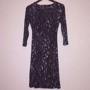 Wrap dress, patterned